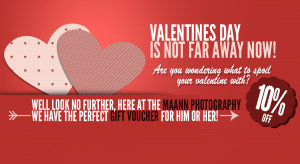 We give 10% off on all Gift Vouchers in our offer for Valentines Day