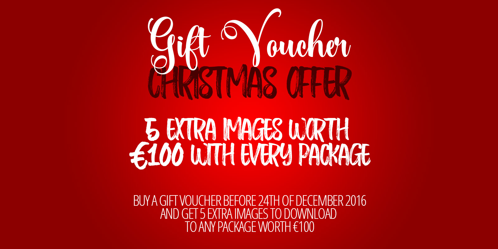 gift voucher christmas offer