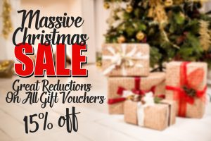 Christmas Massive Sale – 15% off All Gift Vouchers