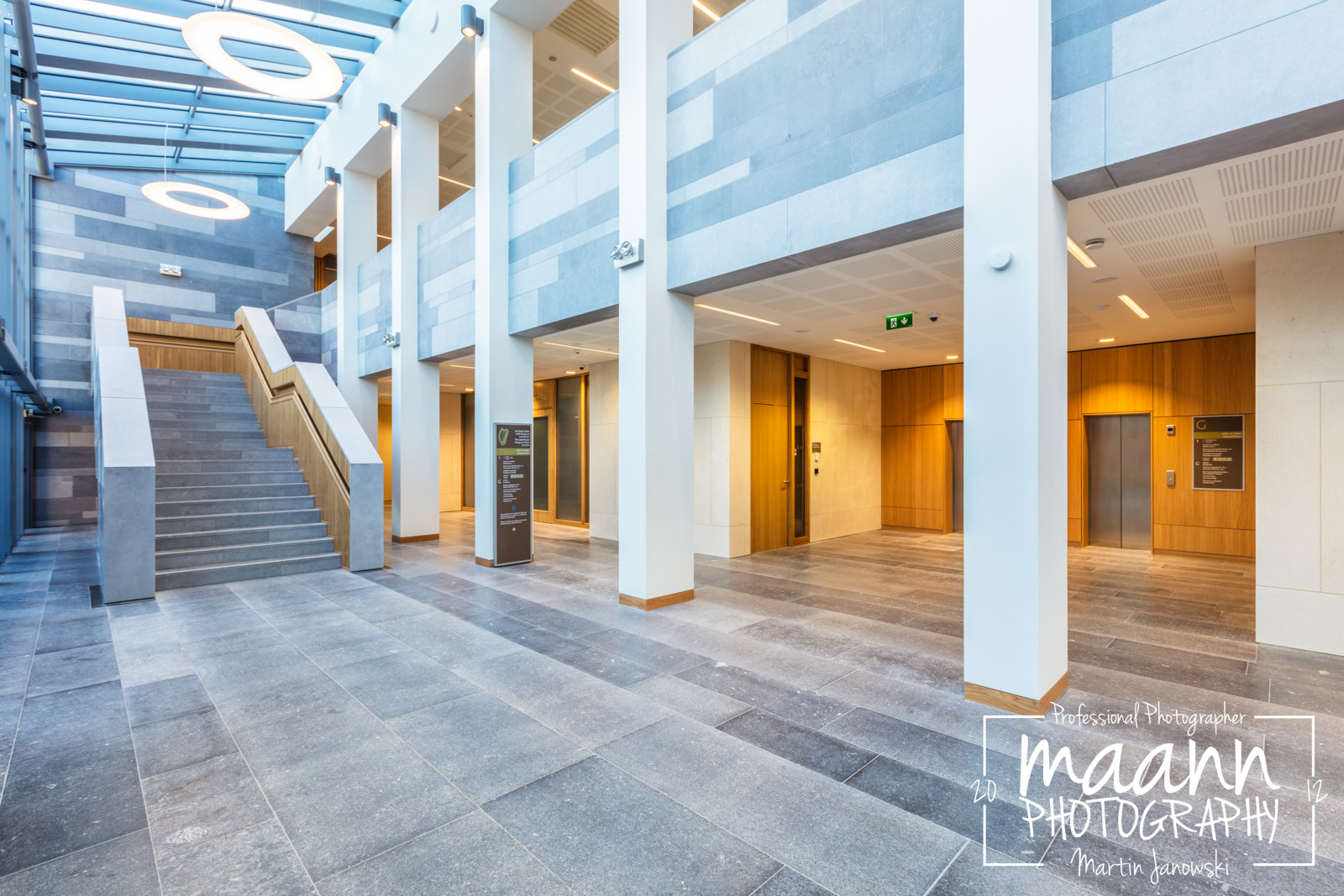 Limerick Courthouse for Woodfit Acoustics – Architectural Photography