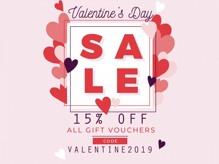 Happy Valentine's Day – Gift Voucher – Big Sale !!! 15% OFF